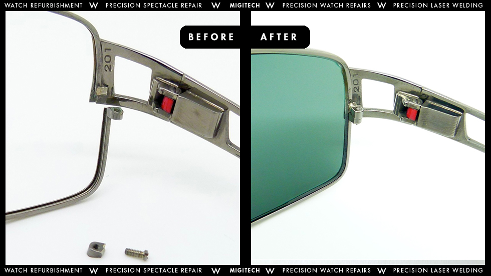 Eyeglass Frame Repair Welding : Migitech - Precision Watch & Spectacle Repair Services